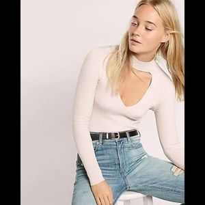 Express Cut Out Choker Sweater L